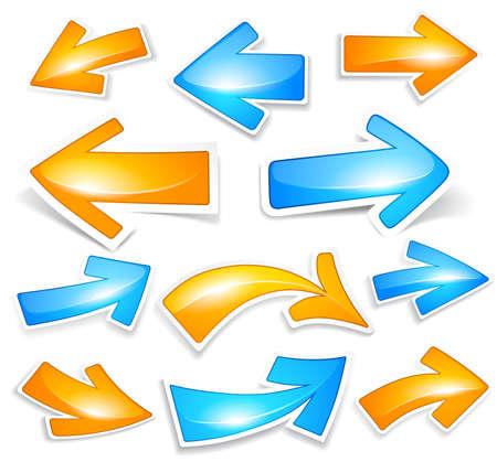 flechas: Flechas de color Vectores