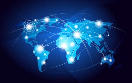 conectividade: Mapa do mundo Ilustração