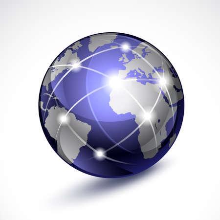 earthly: World globe Illustration