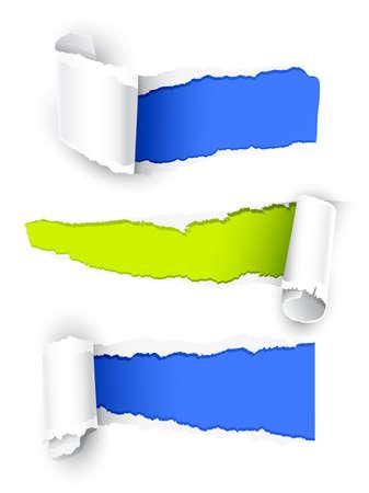 ecartel�: Papier de couleur Illustration