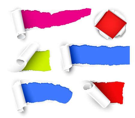 gescheurd papier: Kleur papier