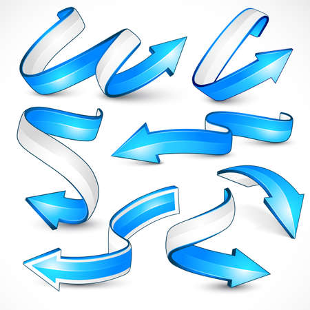 indexes: Blue arrows. Vector illustration