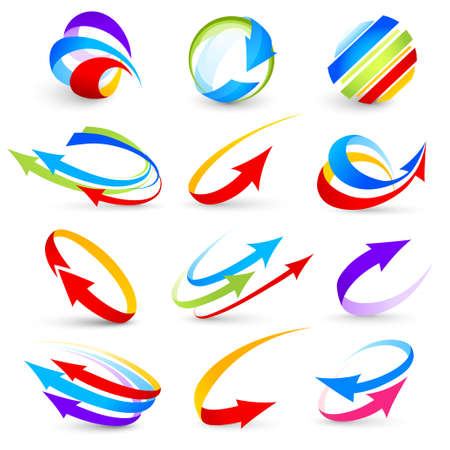 Collection of colour arrows Stock Vector - 9141031