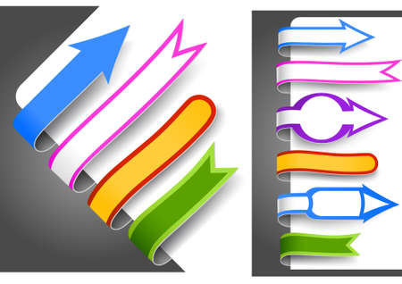 Colour bookmarks Stock Vector - 9141029