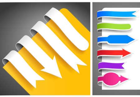Colour bookmarks Stock Vector - 9211756