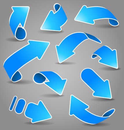 click icon: Blue arrows. Vector illustration