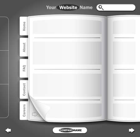 Website design. Vector illustration. Vector