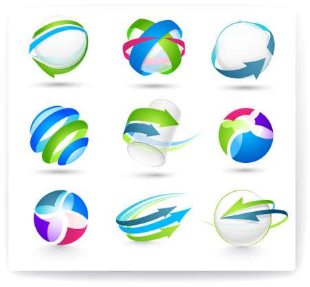 ordinateur logo: ?ollection des �l�ments de couleur