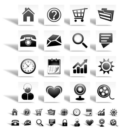 Web icons Stock Vector - 9554956