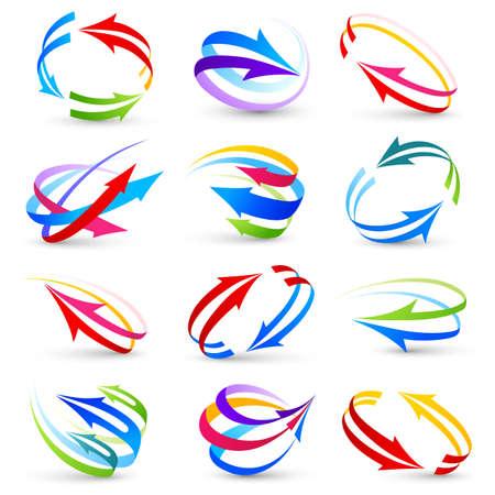 Collection de flèches de couleur
