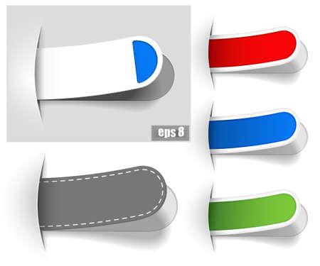 Colour bookmarks Stock Vector - 9720023
