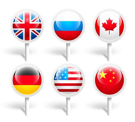 Flags. Vector illustration Vector Illustration