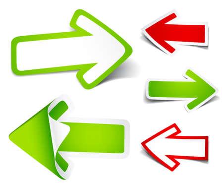 flechas: Flechas de color. Ilustraci�n vectorial