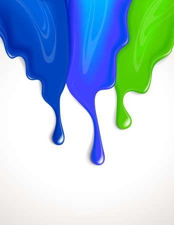 spill: Drips of paint Illustration