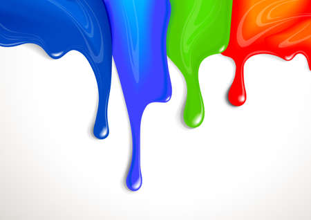 paints: Drips of paint Illustration