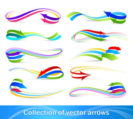 drawing arrow: Collection of colour arrows Illustration
