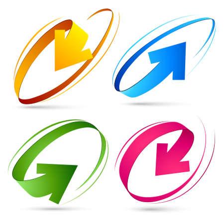 logo informatique: Collection de flèches de couleur