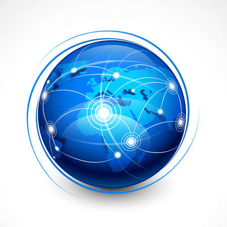 earth globe: Concept internet communication