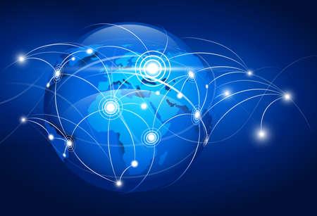 conectividad: Resumen mapa del mundo Vectores