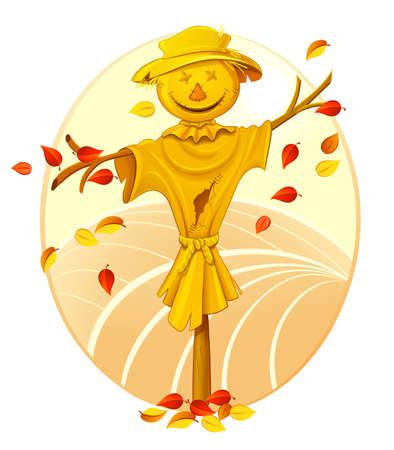 autumn scarecrow: Scarecrow. Illustration