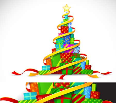 Christmas gifts. Stock Vector - 11241356