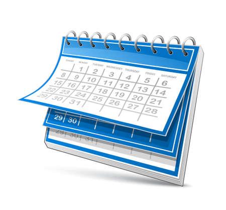 calendar isolated: Calendar Illustration