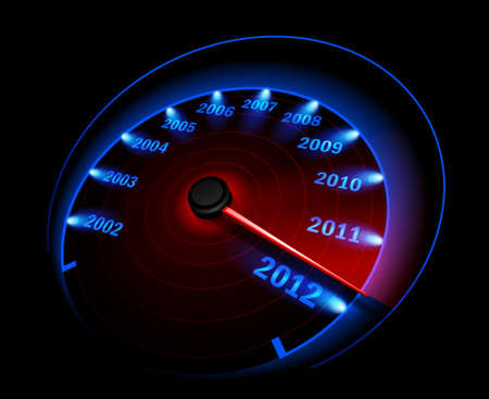 kilometer: Speedometer. Vector illustration Illustration