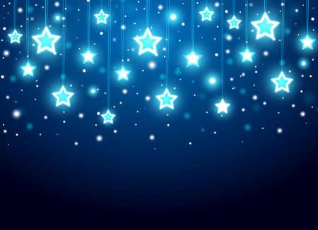estrellas de navidad: De fondo de Navidad con las estrellas Vectores