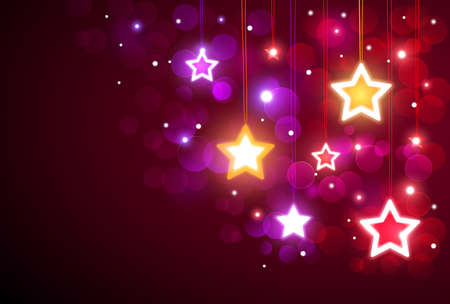 christmas backdrop: Christmas background with stars Illustration