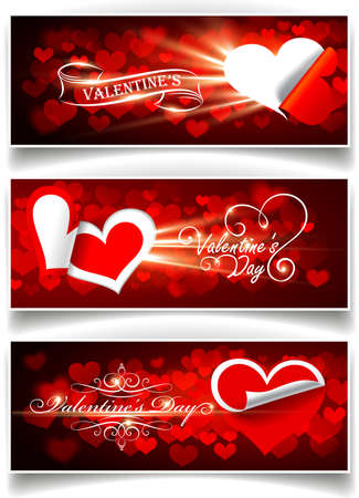 Banners on Valentine's Day Vector