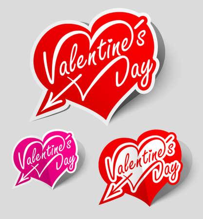 Heart labels Stock Vector - 12055193