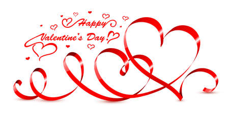 valentines day background: Valentine hearts. Vector illustration. Illustration