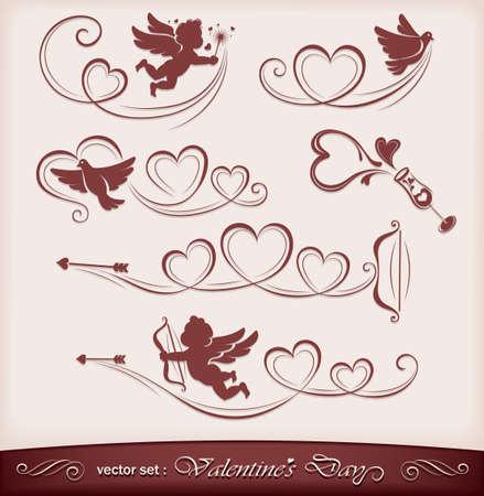 silueta de angel: Iconos para San Valent�n
