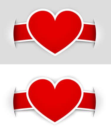 Heart labels Stock Vector - 12244681