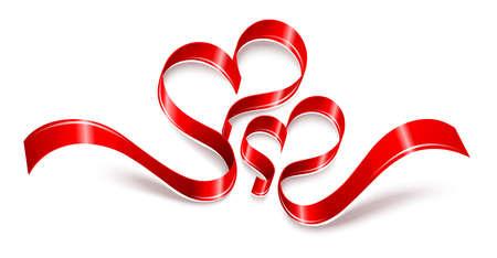 red tape: Valentine hearts. Vector illustration Illustration