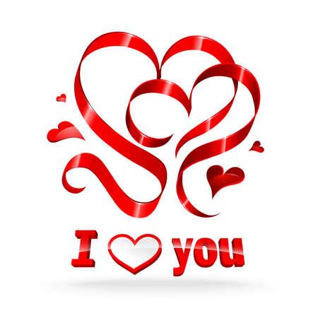 La cinta roja corazones