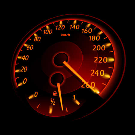 speedmeter: Speedometer. Vector illustration Illustration