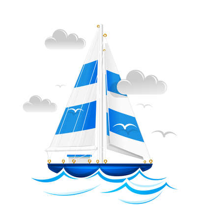 Sailing ship.  Stock Vector - 12992826