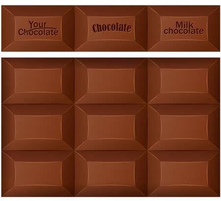 barra de chocolate: Barra de chocolate. Ilustraci�n vectorial