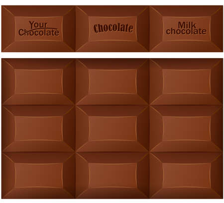 bar of chocolate: Chocolate bar. Vector illustration