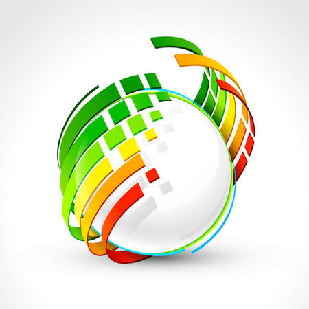 consume: Abstract energy icon. Vector illustration