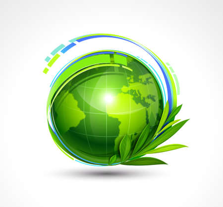 Green Planet illustration Stock Vector - 14202989