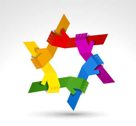 simbolo de paz: Manos Unidas símbolo conceptual