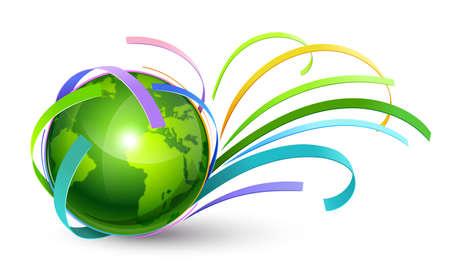 earth logo: Green Planet illustration