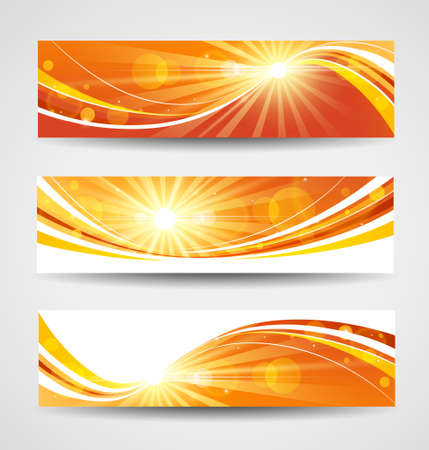 site background: Autumn banners set