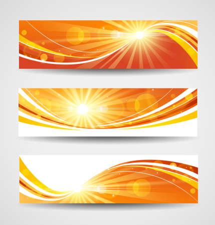 site backgrounds: Autumn banners set