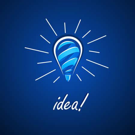energy efficient light bulb: Light bulb idea. illustration