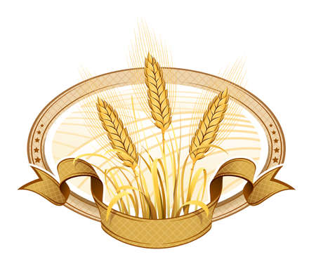 flour mill: Wheat ears  Vector Illustration