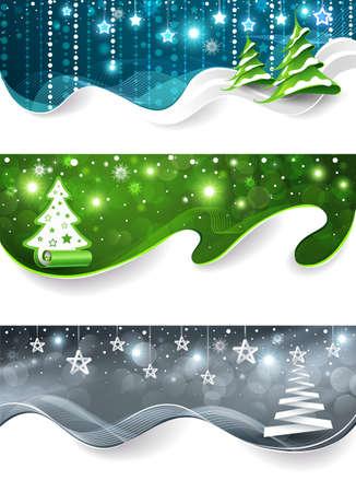 snowdrifts: Collezione di banner di Natale