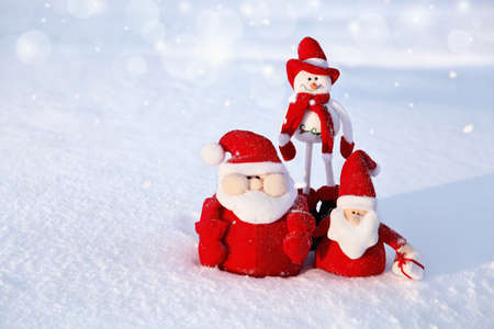 Christmas Snowman and Santa photo
